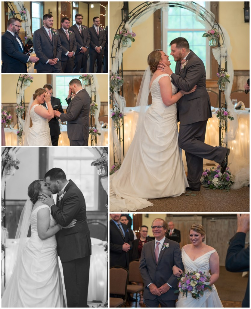 first kiss, dad walking daughter down the isle