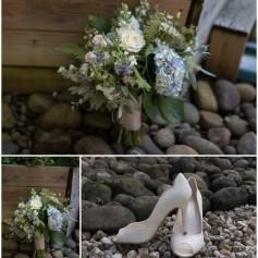 brides flowers brides shoes